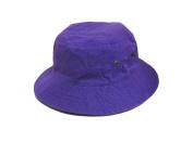 Purple_(US Seller) 100% Cotton Hat Cap Bucket Boonie Unisex