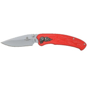 New Tailwind Nova Skull Red Straight Edge + Includes a Free Quick Release Paracord Bracelet