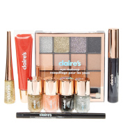 Claire's Girls and Womens Hello Beautiful Glitter Makeup And Nail Polish Set