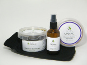 Nuts Organic - Moroccan Hammam Gift Set (03) - Black soap with olives 250g, Argan oil 100ml, Ghassoul clay with lavender 200g, kessa glove