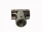 """Stainless Boat hand rail 90 degree tee 1"""" 25 mm"""