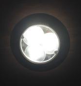 MARINE BOAT LED WHITE CEILING COURTESY LIGHT STAINLESS STEEL HOUSING FLUSH MOUNT