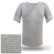 Mediaeval Renaissance Haubergeon Replica Warrior Chainmail Armour Long Shirt XL