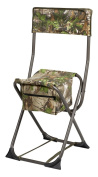 Hunter's Specialties Camo Furniture Dove Chair with Back, Realtree Xtra Green
