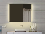 Bathroom Mirror with LED Lights with Light in Warm & Cool White - 80x72 cm