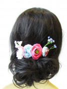Light Blue Blush Pink Rose Gypsophila Flower Hair Comb Bridesmaid Headpiece 1578 *EXCLUSIVELY SOLD BY STARCROSSED BEAUTY*