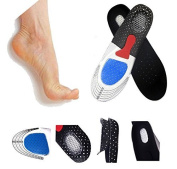 Orthotic Arch Support Comfort Foot Massage Gel Heel Cushion Comfort Silicone Sport Running Shoe Trainer Boots Insoles Pad (1 Pair) - Unisex