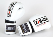 Boxing Gloves SHIHAN-CHAMP Exclusive LEATHER , White/Black 300ml (Special Low Price ...