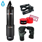 MaxxMMA 1.5m Water/Air Punching bag Kit (Adjustable weight 32-60kg .