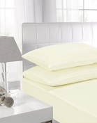 GlampTex (tm) BED SHEETS FITTED SHEETS LUXURY BEDDING SHEETS SINGLE DOUBLE KING