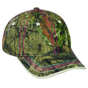 Mossy Oakladies Colourful Stitching Camo Cap, adjustable Closure