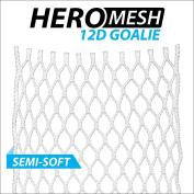 ECD Goalie HeroMesh 12D Semi-Soft Mesh White (UPC