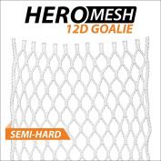ECD Goalie HeroMesh 12D Semi-Hard Mesh White (UPC