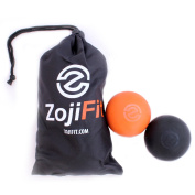 Lacrosse Massage Balls - Trigger Point Therapy - Fix Knots & Sore Muscles - Designed To Increase Mobility And Recovery Time - Comes With A For A Set Of 2 Massage Balls + Carrying Bag