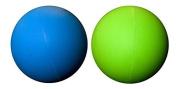 LBS-2 Pack Lacrosse Massage Balls -Blue Green