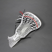 Brine Edge X Lacrosse Head Strung White with Red and Black Strings