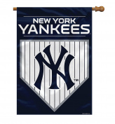 MLB New York Yankees 2 Sided House Banner, 70cm x 100cm /One Size, Team Colour