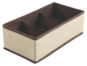 Galileo Casa & Beauty Organiser Drawer Organiser with 3 Compartment, Non-Woven Textile, Ivory, 31 x 16 x 10 cm