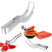 Itian Watermelon Slicer, Watermelon Knife & Fruit Slicer Fastest Cutter Multi-purpose Stainless Steel, Smart Kitchen Gadget & Perfect Gift