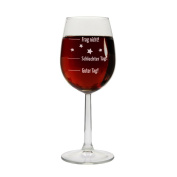"""'""""Good Day - Bad Day - Frag nicht. Wine Glass, Red and White Wine Glass, gift idea, birthday gift, Christmas present, gift for him/her, mother's day, Father's Day"""