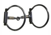 The Colorado Saddlery Steel Ring Snaffle Bit, Black