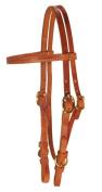 Berlin Custom Leather Headstall Hermann Oak Buckle Chestnut H102