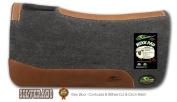Southwestern Equine Silverado 2.5cm Grey Contoured Saddle Pad 100% Wool