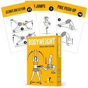 Bodyweight Exercise Cards Home Gym Workout Personal Trainer Fitness Programme Guide Tones Core Ab Legs Glutes Chest Bicepts Total Upper Body Workouts Callisthenics Training Routine