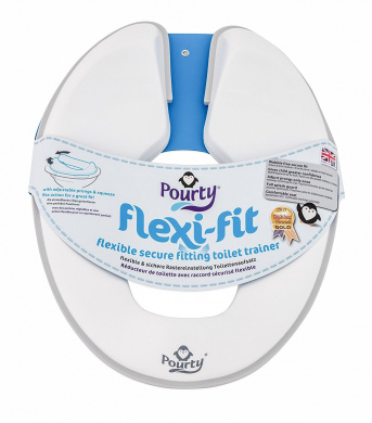 Pourty Flexi-fit Toilet Trainer (Penguin White/Grey)
