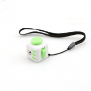 Mini Stress Fidget Toy - White/Green