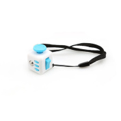 LnLyin Stress Cube for Fidgeter Anxiety Attention Toy Relieves Stress And Anxiety for Children and Adults White and Blue