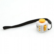 LnLyin Stress Cube for Fidgeter Anxiety Attention Toy Relieves Stress And Anxiety for Children and Adults White and Yellow