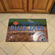 FANMATS 19060 Team Colour 48cm x 80cm Toronto Blue Jays Scraper Mat