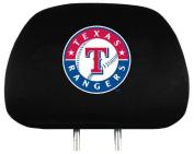 MLB Texas Rangers Auto Headrest Covers Set of Two