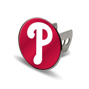 MLB Philadelphia Phillies Laser Cut Metal Hitch Cover, Large, Silver