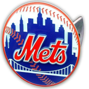 New York Mets Large Zinc Trailer Hitch Cover - MLB Baseball Fan Shop Sports Team Merchandise