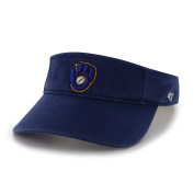 MLB Milwaukee Brewers Clean Up Adjustable Visor, One Size, Royal