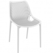 White Plastic Polypropylene Chair - Commercial and Domestic Use Indoors and Outdoors - Ideal for cafes bistros balconies and patios