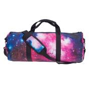 MaxSun Design Lightweight Folding Nylon Holdall Gym Sports Bag , Water-Resistant - Galaxy Pink