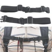 Lightweight 2.5cm Nylon Webbing Sternum Strap Backpack Chest Harness Open Loop