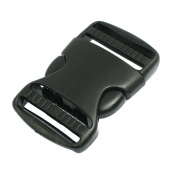 3.8cm Replacement Belt Connecting Black Plastic Quick Release Buckle