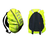 High Visibility Rucksack Backpack Waterproof cover weatherproof protector for cycling running walking in the dark reflective