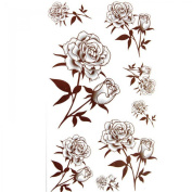 SPESTYLE waterproof non-toxic temporary tattoo stickersSexy waterproof temporary tattoos Black rose