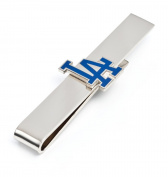 MLB Mens LA Dodgers Tie Bar with Collectible Gift Box