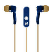 MLB Milwaukee Brewers Hands Free Ear Buds with Microphone