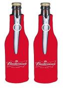 Budweiser King of Beers Bottle Suit Holder Cooler Kaddy Huggie Coolie Bud Set of 2