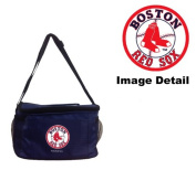 Boston Red Sox MLB Team Logo 6-Sports Drink Beer Water Soda Beverage Can Insulated Picnic Outdoor Party Beach BBQ Kooler Cooler Lunch Bag Tote - 6-Pack Bag