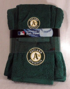 Oakland Athletics 3 pc Embroidered Bath Towel Gift Set