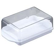 Metaltex Butter Dish, White