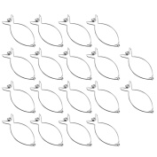 COM-FOUR 18x Roulade Clips in Economy Pack Stainless Steel